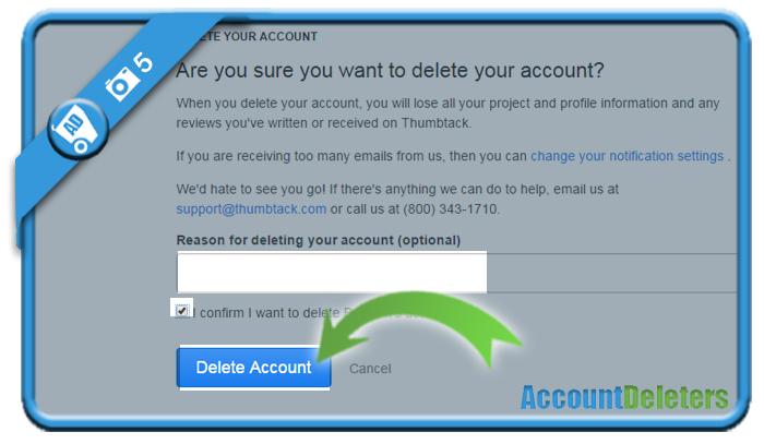 delete thumbtack account 5