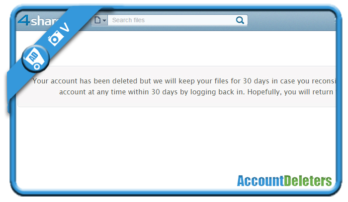 delete 4shared account 6