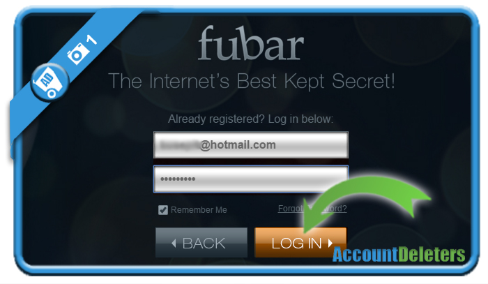 delete fubar account 1