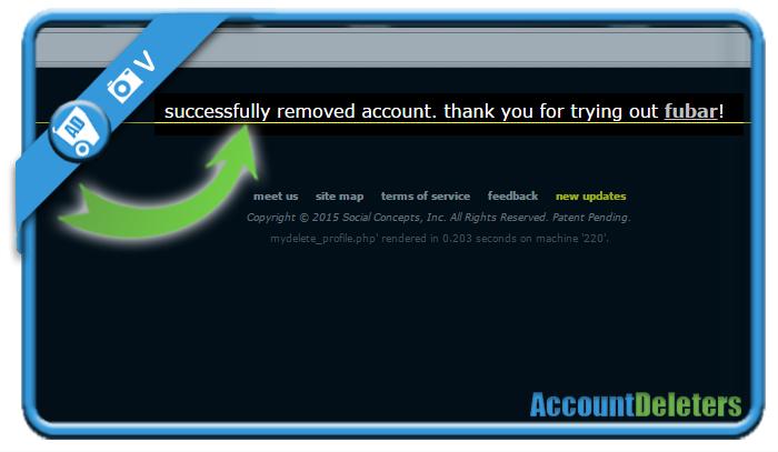delete fubar account 5