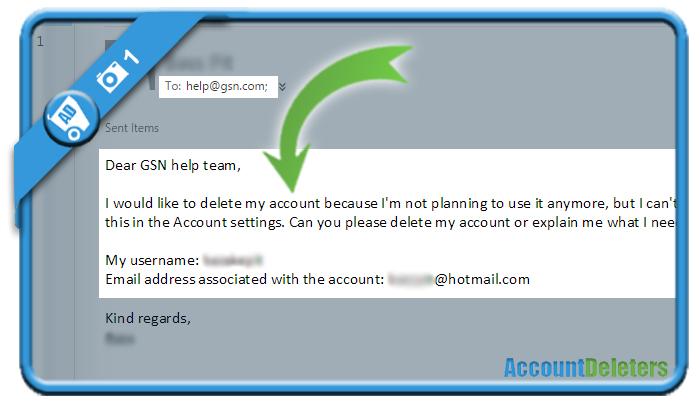 delete gsn account 1