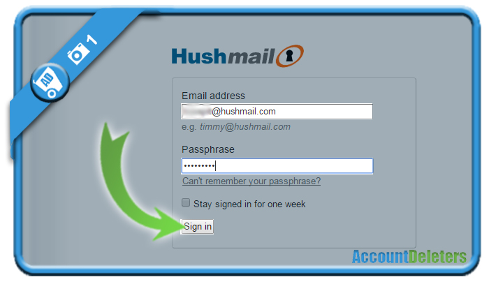 delete hushmail account 1
