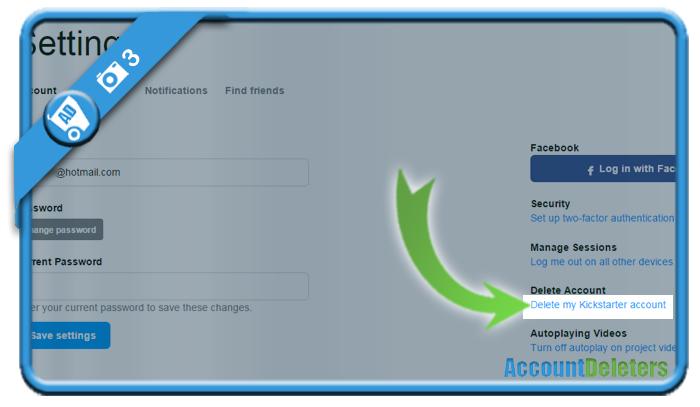 delete kickstarter account 3