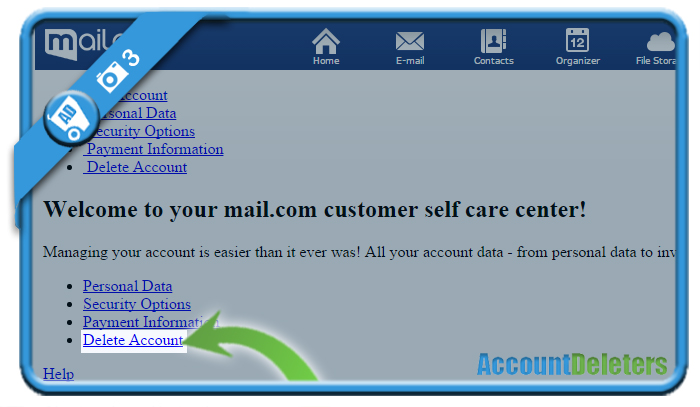 delete mail com account 3