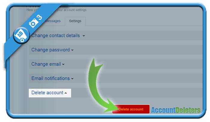 delete olx account 3