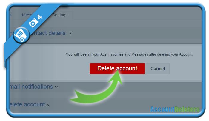 delete olx account 4