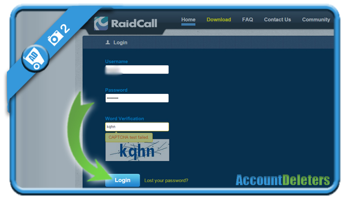 delete raidcall account 2