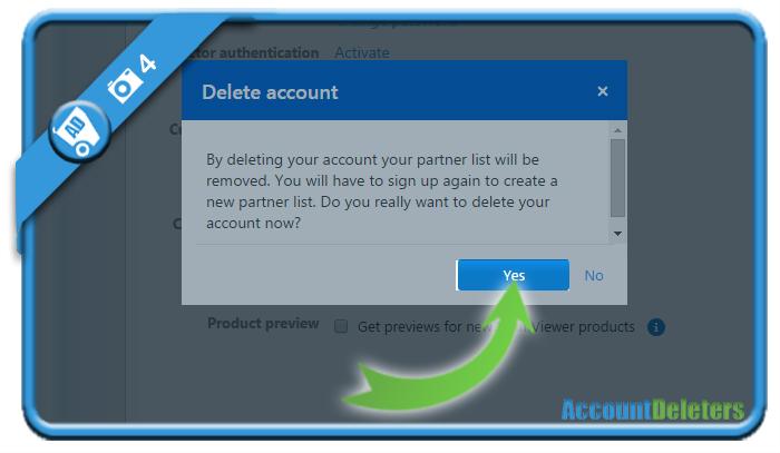 delete teamviewer account 4