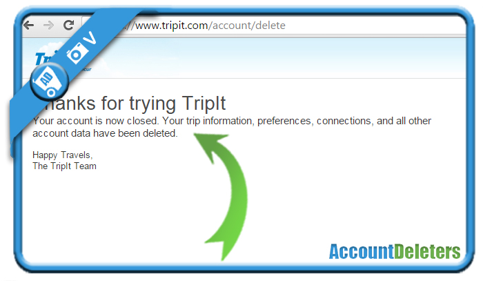 delete tripit account 6