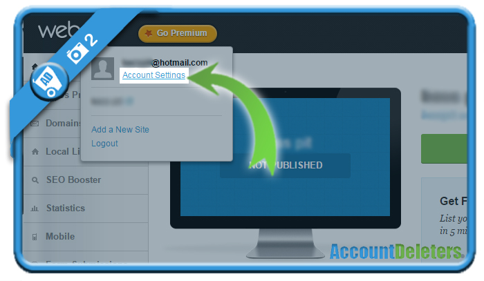delete webs account 2