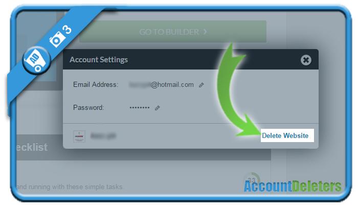 delete webs account 3