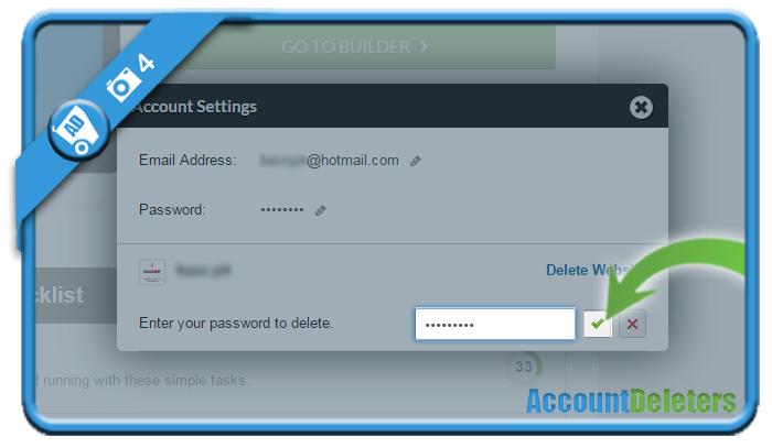 delete webs account 4