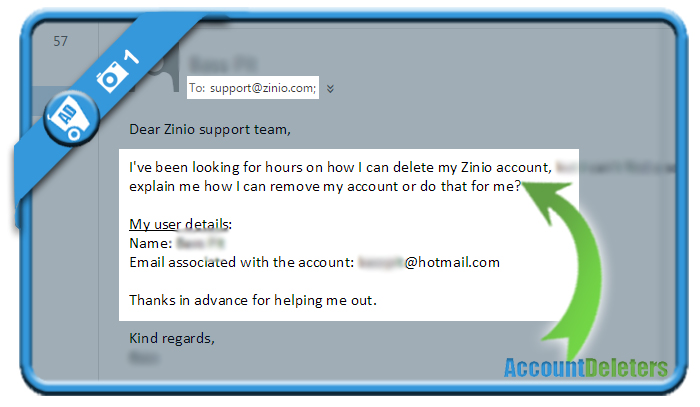 delete zinio account 1