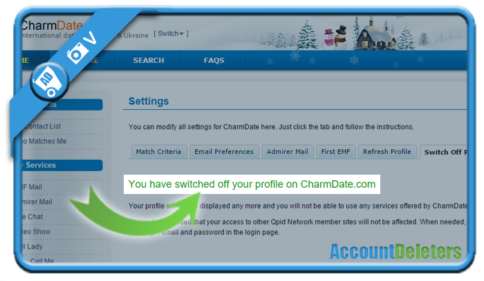 delete charmdate account 7