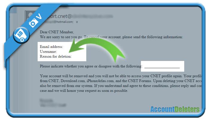 delete cnet account 5