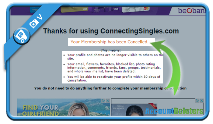 delete connectingsingles account 5