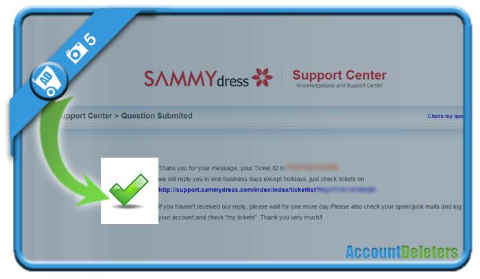 delete sammydress account 5