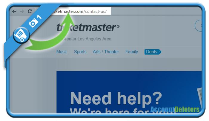 delete ticketmaster account 1