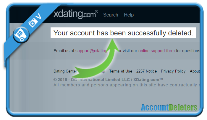 delete xdating account 6