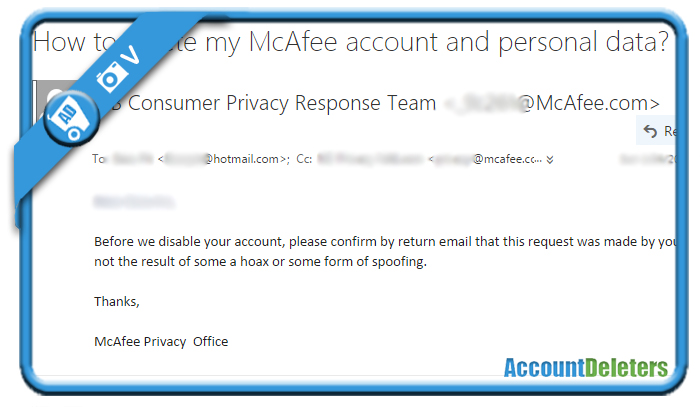 delete mcafee account 2