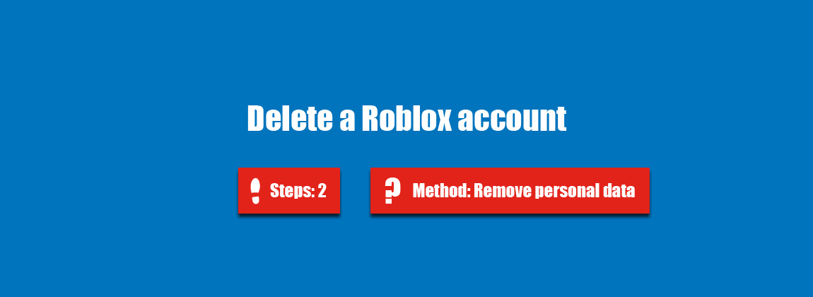 how do i delete my account on roblox