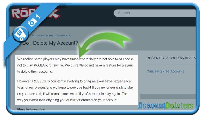 delete roblox account 1
