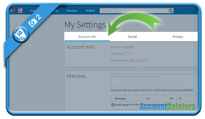 delete roblox account 2