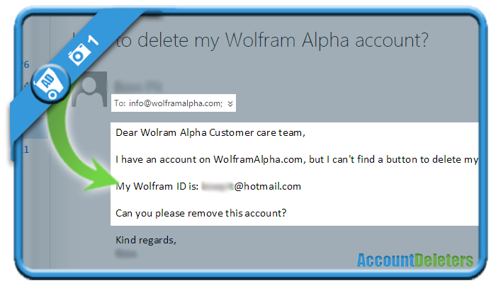 delete wolfram alpha account 1