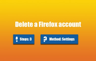 delete firefox account 0
