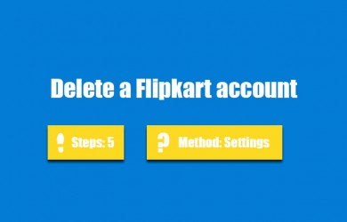 delete flipkart account