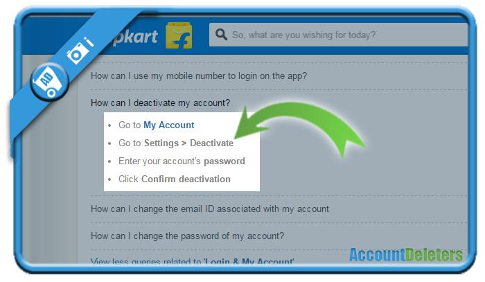 delete flipkart account i