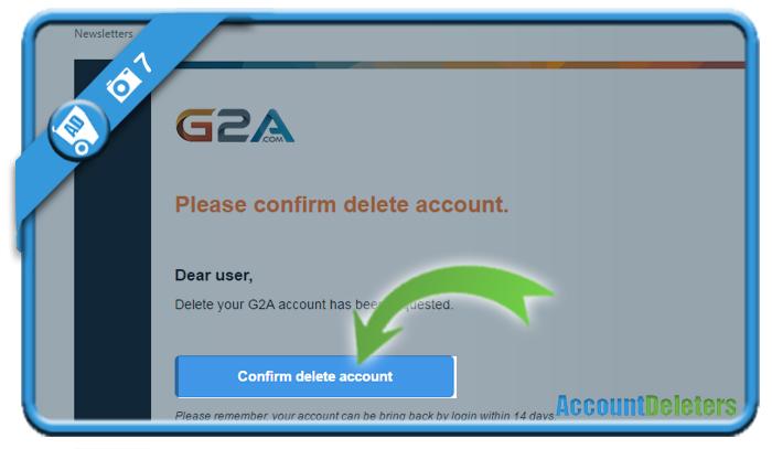 delete g2a account 7