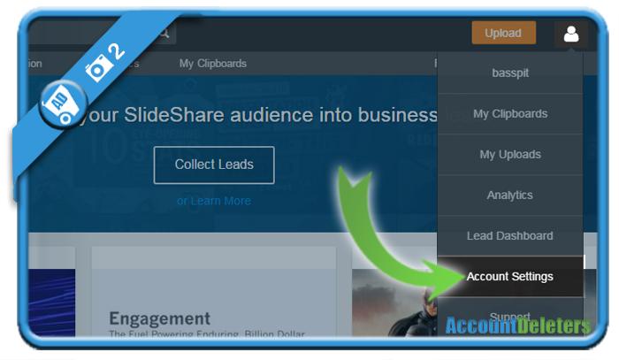 delete slideshare account 2