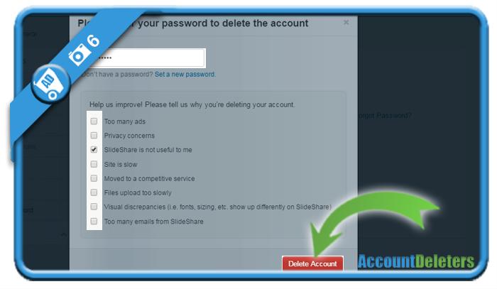 delete slideshare account 6