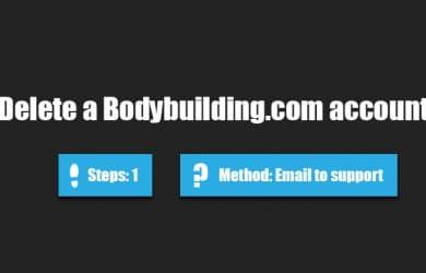 Delete Bodybuilding account