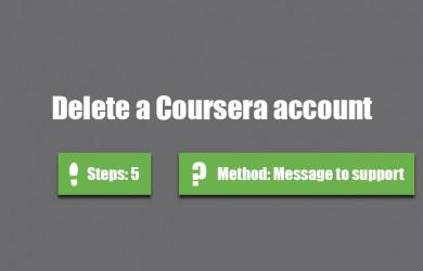 Delete Coursera account