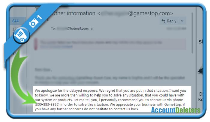 delete gamestop account 1