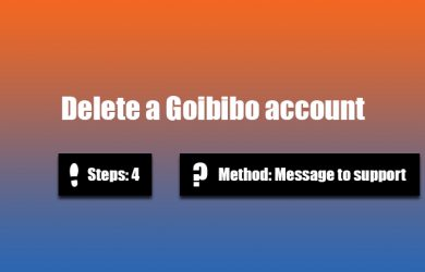 Delete Goibibo account