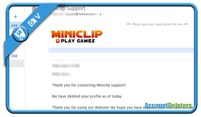 delete miniclip account 2
