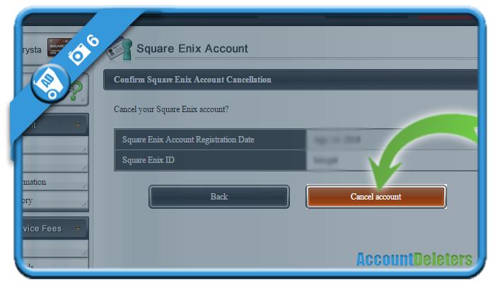 delete square enix account 6
