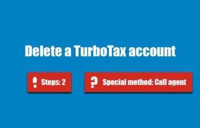Delete Turbotax account