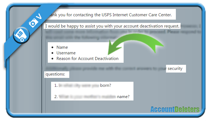 delete usps account 6