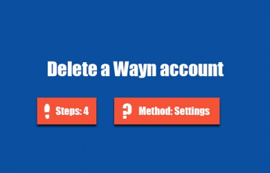 Delete Wayn account