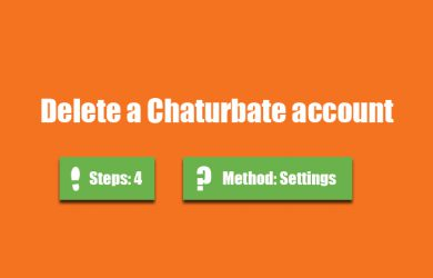 Delete Chaturbate account