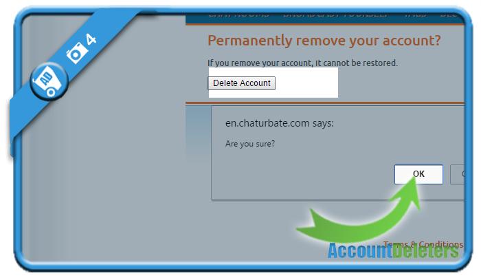 delete chaturbate account 4