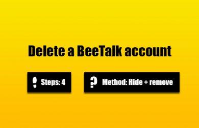 delete beetalk account