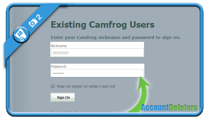 delete camfrog account 2