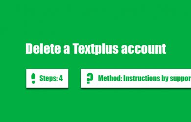 delete textplus account