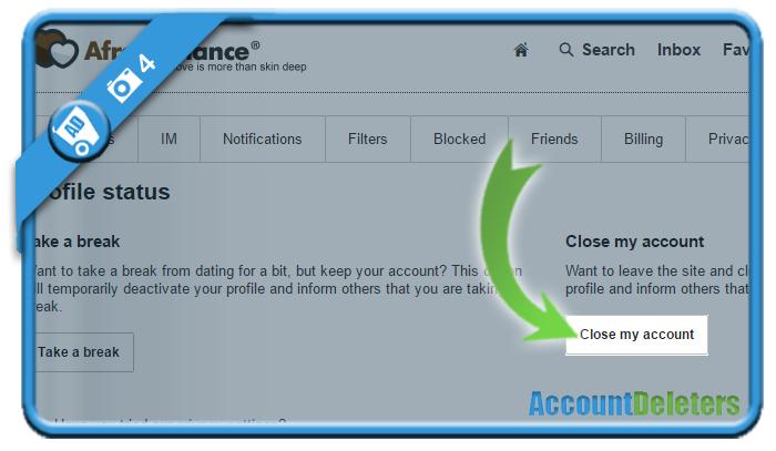 delete afroromance account 4