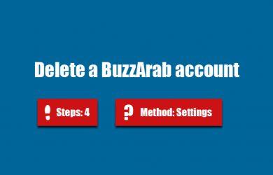 delete buzzarab account